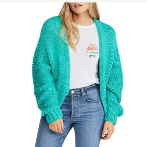 Free People Glow For It Cardigan Oasis Small